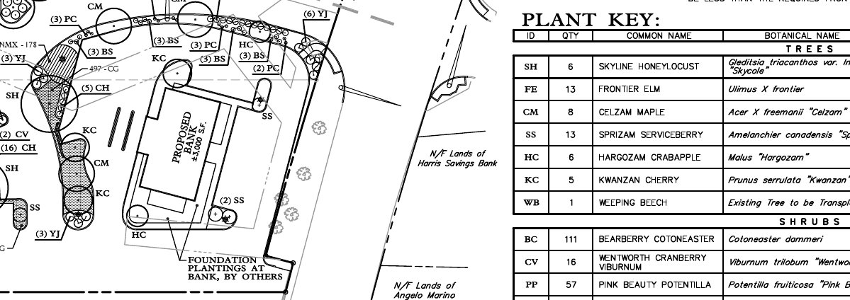Landscape Plan - retail center - sample