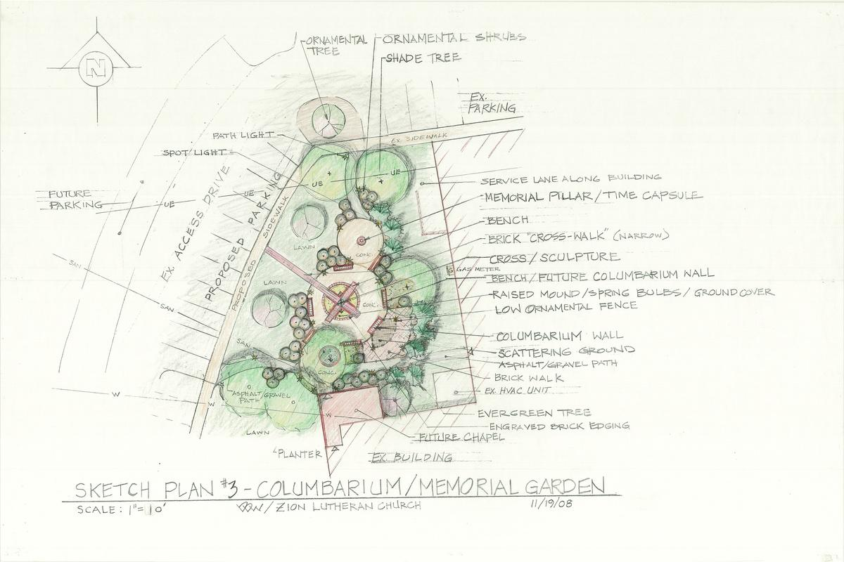 Zion Columbarium plan - Daniel D. Wise Landscape Architect RESUME